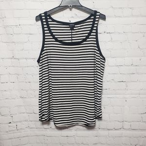 Torrid Size 1 Black & White Striped Tank